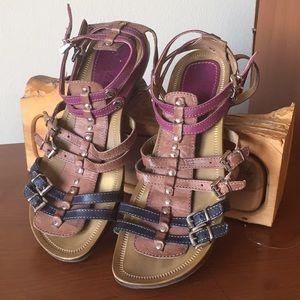 Luzzi multi color strapped sandals